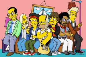 keith richards rolling stones the simpsons homer simpson mick jagger
