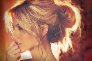 kendall mickal women face blonde portrait model profile