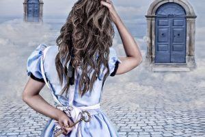 keys door fantasy girl fantasy art alice in wonderland