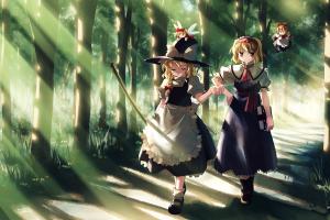 kirisame marisa alice margatroid anime anime girls touhou