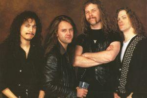 kirk hammett heavy metal james hetfield black leather lars ulrich long hair metal band big 4  band music dark hair jeans thrash metal metallica
