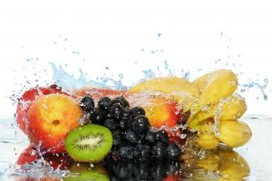 kiwi (fruit) food water simple background bananas berries grapes fruit