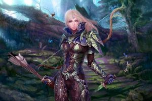 knife arrows arrow bow weapon fantasy art women warrior