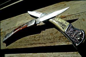 knife wood weapon metal macro