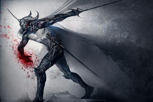 knight blood fantasy art sword