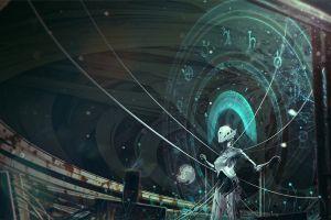 knowledge artwork landscape digital art concept art robot fantasy art kuldar leement science fiction