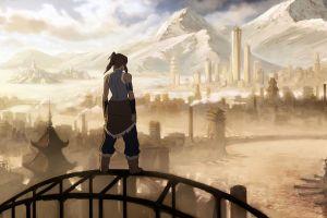 korra anime girls mountains the legend of korra anime fantasy city