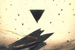 kuldar leement deviantart triangle abstract artwork kuldar leement beige rock landscape pyramid fantasy art digital art