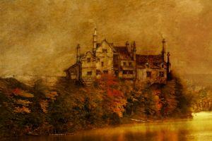 lake castle house artwork