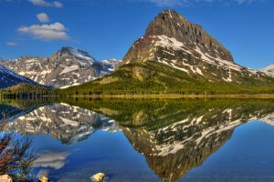 lake landscape montana glacier national park nature reflection mountains