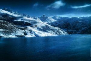 lake nature mountains