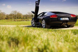 lamborghini lamborghini murcielago vehicle super car  black cars car