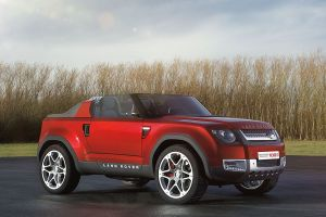 land rover dc100 red cars concept cars