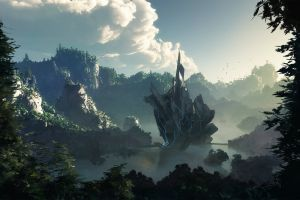 landscape artwork digital art fantasy art