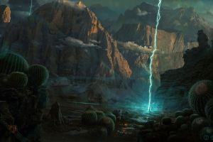 landscape artwork fantasy art digital art