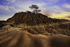 landscape badlands national park south dakota nature