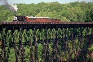 landscape bridge train