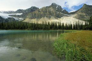 landscape canada nature lake mountains glacial lake