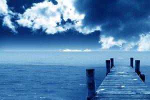 landscape clouds sky pier nature sea horizon