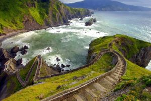 landscape coast spain sea
