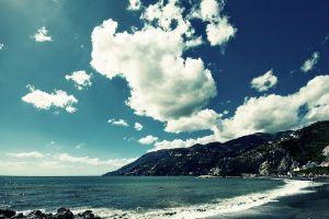 landscape earth sea clouds