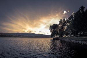 landscape lake sky