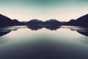 landscape nature lake reflection