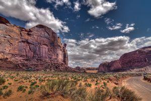 landscape nature rock clouds