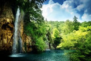 landscape plitvice lakes national park waterfall nature wilderness