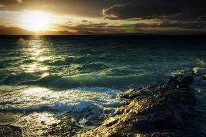 landscape sea sunlight sky