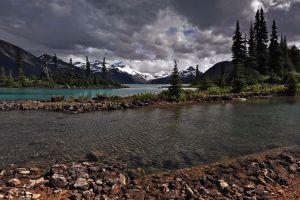 landscape sky nature river mountains canada