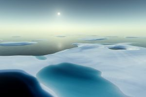 landscape snow digital art ice bliss render