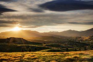 landscape sunlight sky dusk