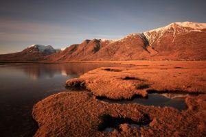 landscape sunset nature lake