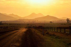 landscape sunset sunlight
