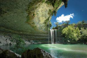 landscape texas nature austin (texas) usa hamilton pool waterfall
