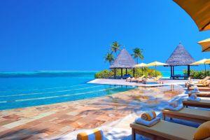 landscape tropical sea hotel