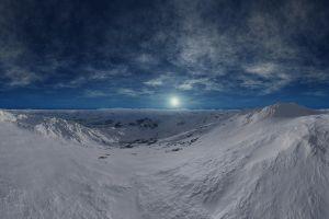 landscape winter nature sky snow
