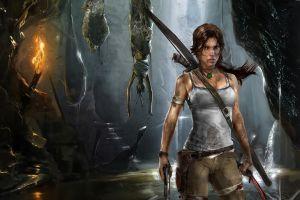 lara croft tomb raider artwork video games