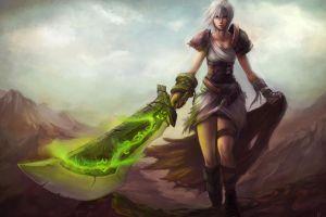 league of legends riven fantasy girl video games