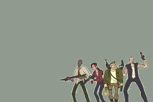 left 4 dead gun minimalism girls with guns video games
