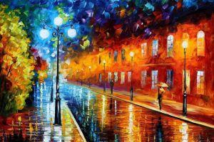 leonid afremov artwork street