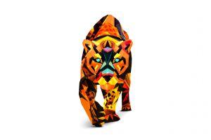 leopard artwork animals digital art facets justin maller