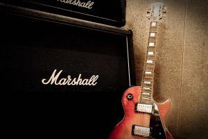 les paul music marshall musical instrument guitar