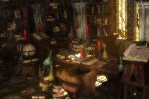 library books fantasy art