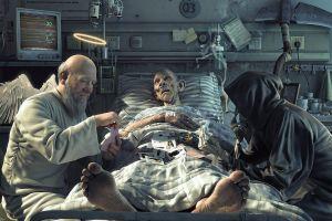 life fantasy art death angel grim reaper hospital cards