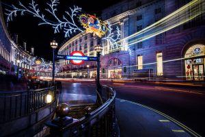 light trails cityscape long exposure road lights london