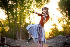 lindsey stirling skirt violin musician women