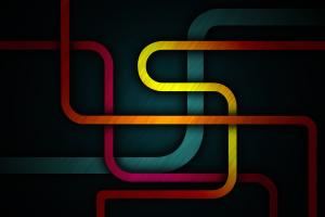lines geometry abstract colorful artwork digital art dark