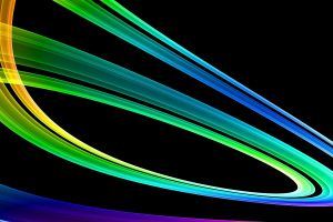 lines shapes black background digital art abstract